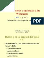 De Las Lecciones Ocasionales a Las Webquests