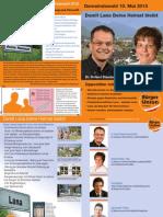 BürgerUnion Lana Gemeinderatswahl 2015 - Broschüre