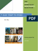 Best Peru Tours - 7-DAY TRIP TO PERU