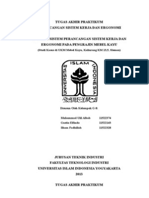 Skripsi Teknik Industri Tentang Ergonomi Pdf Pejuang Skripsi