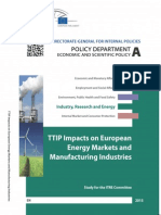 TTIP Impacts on Energy