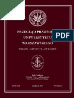 Przegląd Prawniczy Uniwersytetu Warszawskiego 4/2014