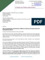 CDF Letter- Unconstitutionality of Allocating Kshs 38 Billion