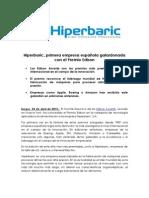 Nota de Prensa_Hiperbaric Primera Empresa Española Galardonada Con El Premio Edison_2015!4!24
