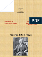 Contribution of Elton Mayo