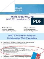 2011 Who Three I-s for Hivtb Ipt Icf Department