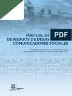 MANUAL DE GESTIÓN DE RIESGOS DE DESASTRE PARA COMUNICADORES SOCIALES