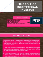 The Role of Institutional Investor (1)
