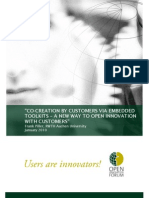 Piller, F. (2010) Co-Creation by Customers via Embedded Toolkits