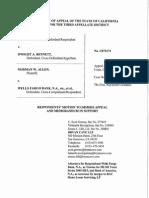 Wells Fargo Bank NA as Trustee Etc. etal. v. Bennett