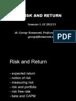 Presentation 04 - Risk and Return 2012.11.15