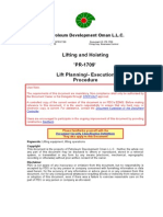 Lifting and Hoisting Procedure Lift Planning Execution