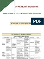 Plano de Actividades da Biblioteca da Escola Secundária de Ermesinde - 2009/2010
