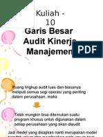 9. Garis-garis Besar Audit Kinerja Mgt