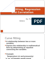 Chapter 2 Curve Fitting, Regression and Correlation