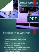 Abrasive water jet machining