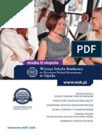 Informator 2015 - studia II stopnia - Wyższa Szkoła Bankowa w Opolu.pdf