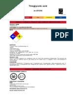 Thioglycolic Acid MSDS