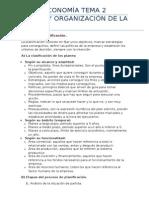Economia T2 Dirección y Organización de La Empresa