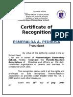 pta recognition