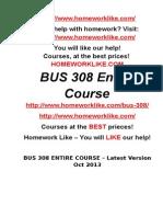 Bus 308 Entire Course – Latest Version Oct 2013