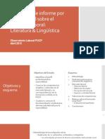 Propuesta de Informe Sobre El Mercado Laboral Literatura y Lingüística