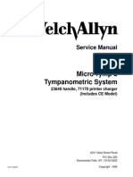 WELCH ALLYN Microtymp II service manual