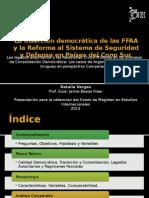 La inserción democrática de las FFAA