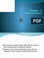 Risk & Return of capital