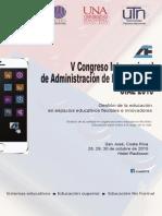V congreso internacional de la Administración de la Educación