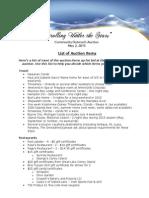 2015 Handout - List of Auction Items