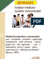 Modelul Porter de Analiza a Mediului Inconjurator Concurential