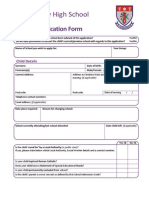 In Year Application Form