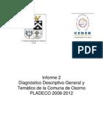 Diagnóstico Descriptivo General y Temático de La Comuna de Osorno