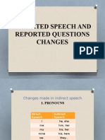 lesson plan indirect speech and reported questions