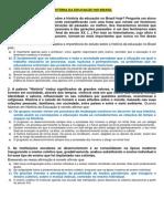 Questionário de Hist. Da Educ. No Brasil