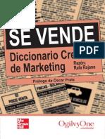 Se Vende Diccionario Creativo de Marketing