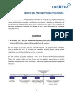 Los 4 Años de Gobierno Del Presidente Sebastián Piñera