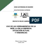 Uso de las Herramientas de La Web 2.0 en La Empresa (2009)