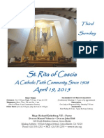 St.Rita Parish Bulletin 4/19/2015
