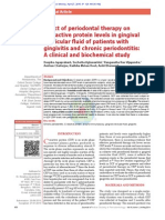 Effect of Periodontal Therapy on C-reactive Protein Levels in Gingival Crevicular Fluid of Patients With Gingivitis and Chronic Periodontitis