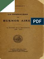Lancelotti Criminalidad en Buenos Aires Al Margen de La Estadistica 1914
