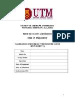 Experiment 5 - Calibration Of  Bourdon Tube Pressure Gauge (1).doc