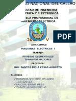 Lab1 Pruebas Elementales de Transformadores