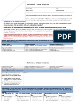 Reference Check Template