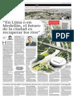 25-04-2015 - El Comercio - Entrevista a Anibal Gaviria (Alcalde de Medellin) - Ciudad Sostenible