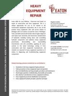 heavy equipment repair 15-16