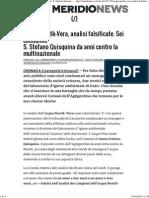 Acqua Nestle' Vera Analisi Falsificate Condannato Sciacca e