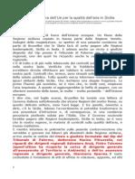 Piano Aria Regione Sicilia Copiato Dal Veneto Condanna Dall'Europa Atto Ispettivo Parlamento Italiano Mannino Claudia