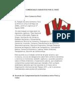 Acuerdos Comerciales Suscritos Por El Perú